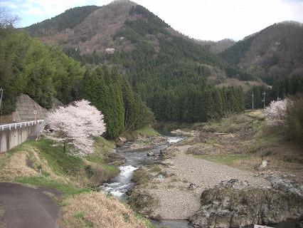 五郎橋からの上林渓谷